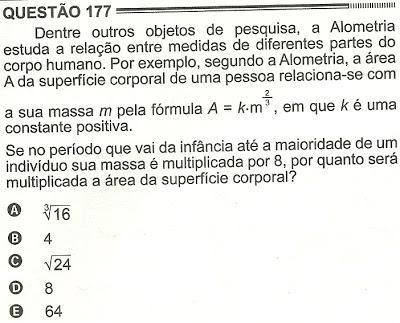 Exercício Resolvido Enem 2012 - Questão 177 (caderno amarelo - 2º dia)