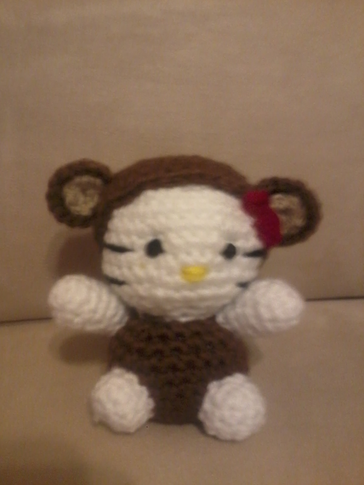 NOVEDADES JENPOALI: PATRON MINI HELLO KITTY CHANGO AMIGURUMI