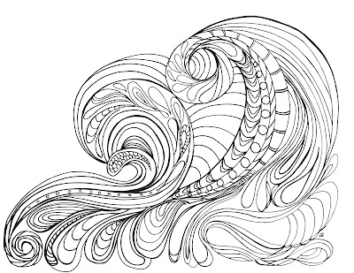 Waves Coloring Pages Printable Grown Up