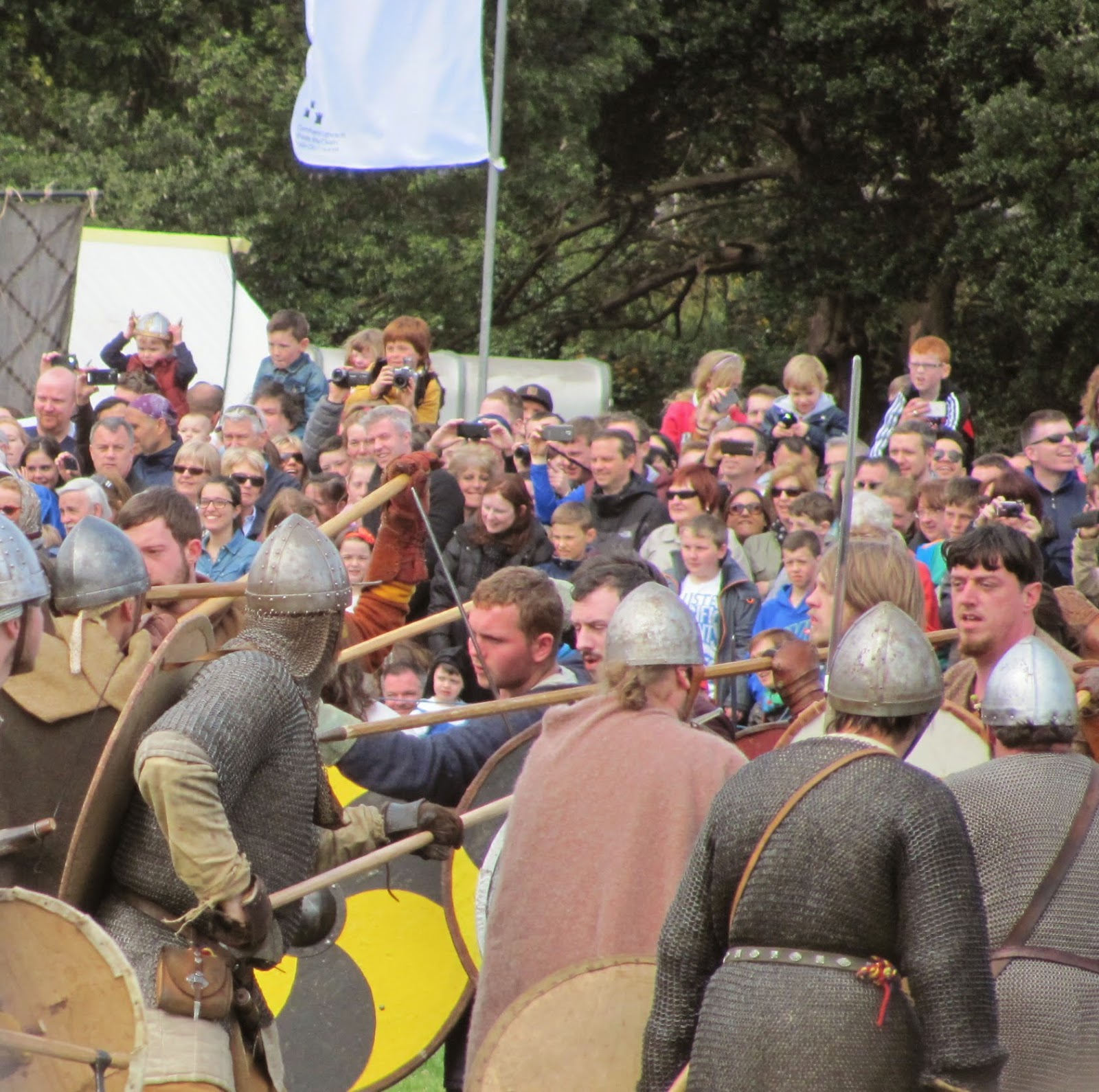 Viking re enactors at the Battle of Clontarf Festival Dublin