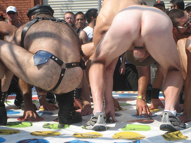 Gay nude twister