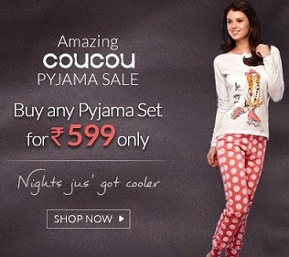 Buy any Coucou (International Brand) Women's / Girls Pyjama Set just for Rs.599 Only at Zivame