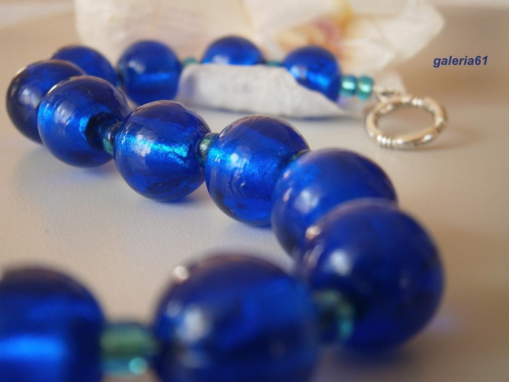 bransoletka niebieska, granatowa