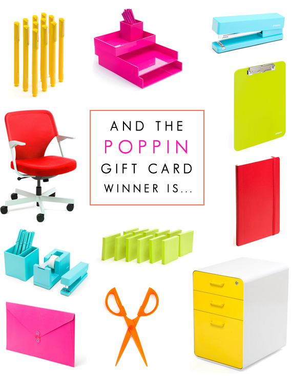 Did You Win the Poppin Giveaway? // Bubby and Bean