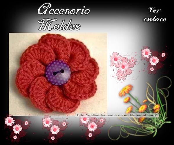 Delicadezas en crochet Gabriela: Prendedor flor