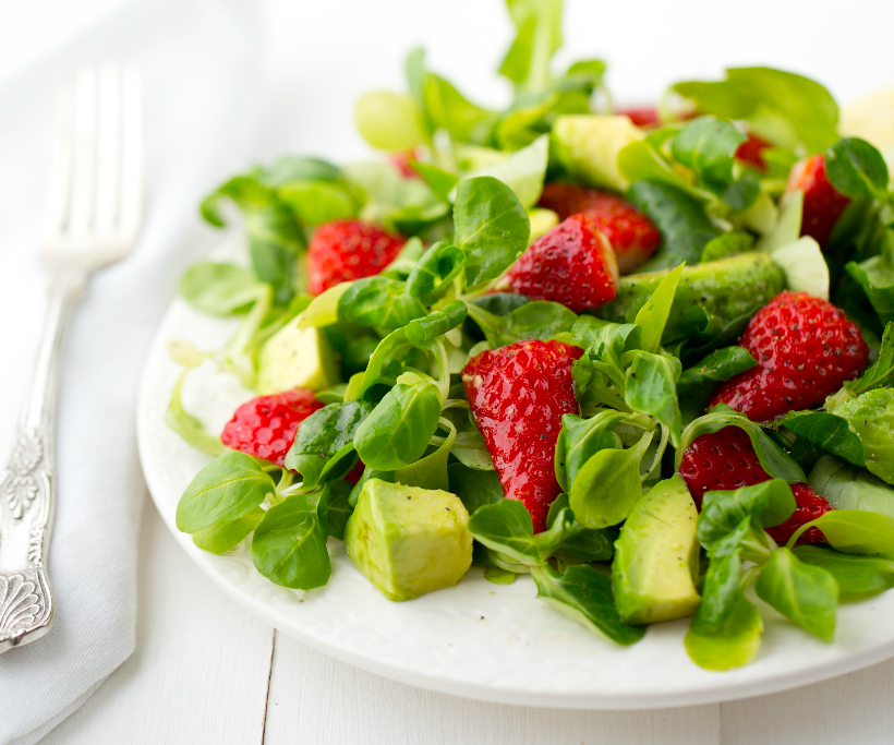 Strawberry Mache Salad from Healthy Happy Vegan Kitchen