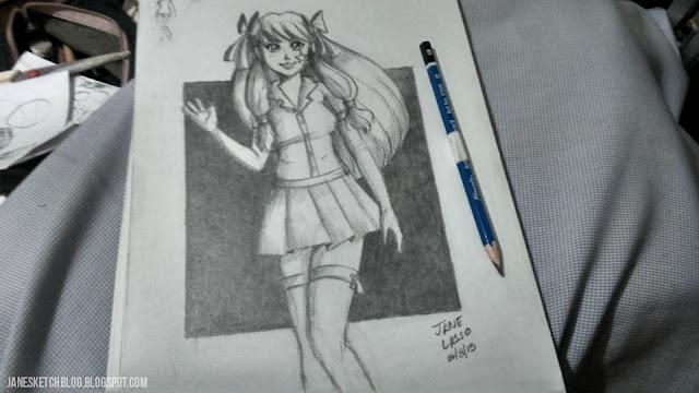 Dibujo de Melody a lápiz