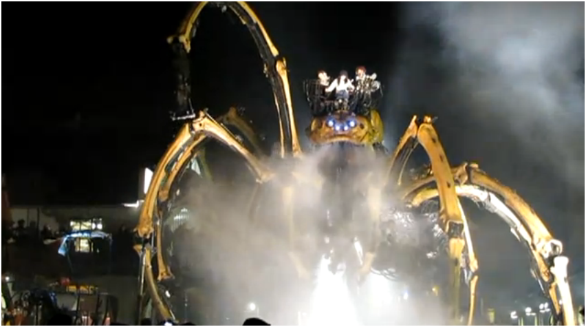 Geek Art Gallery: Video: Giant Mechanical Spider