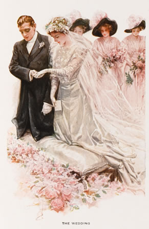 Edwardian wedding bride and groom Matthew Mary Crawley Downton Abbey