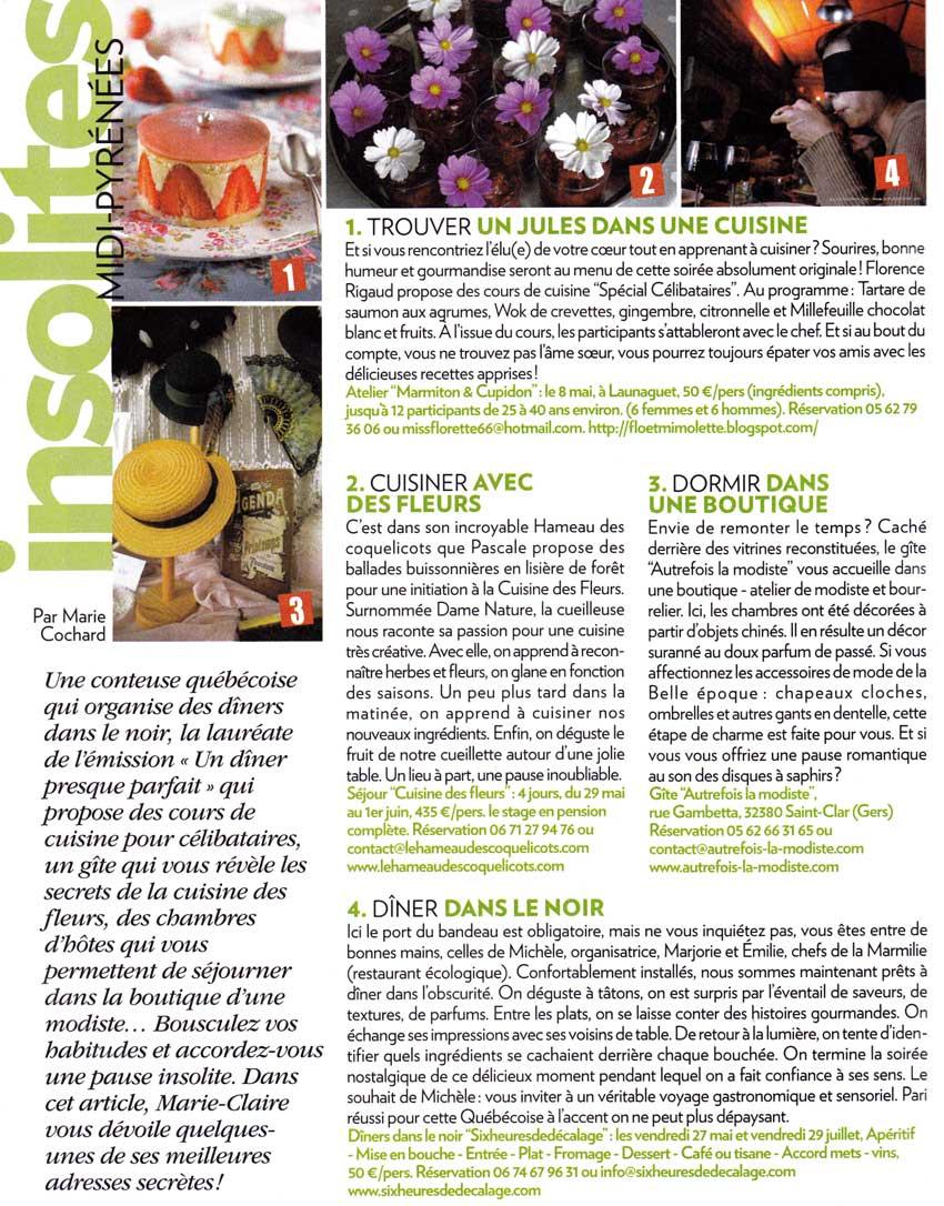Flo et mimolette marmiton et cupidon cours de cuisine pour c libataires dans marie claire - Cuisine pour celibataire ...