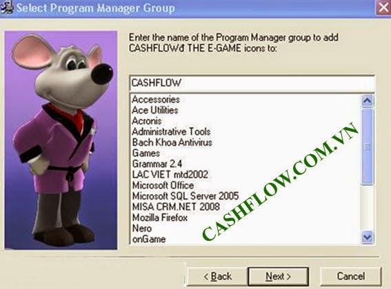 Cài đặt game cashflow 101 - bước 5