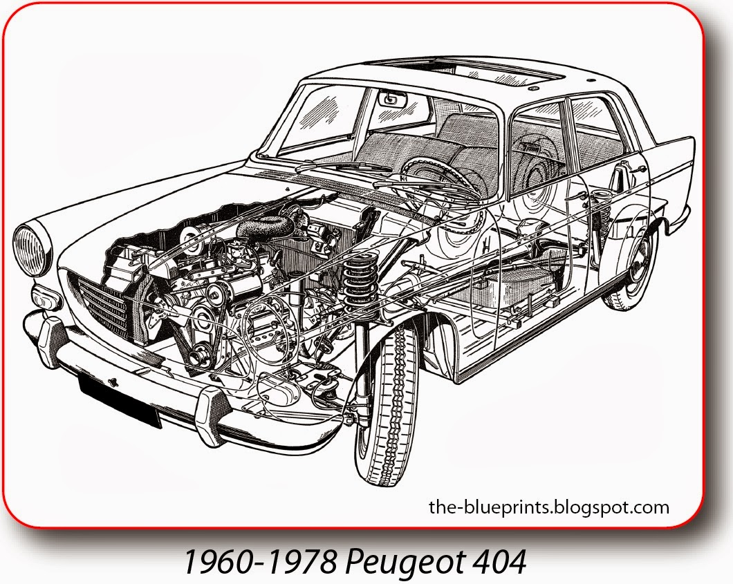 Vector Blueprints - Cars, Trucks, Busses and others: Peugeot ...