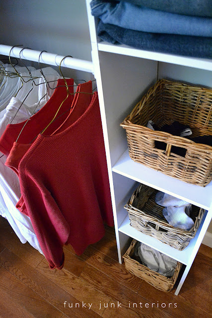 Building an easy clothes closet from a $50 kit!   funkyjunkinteriors.net