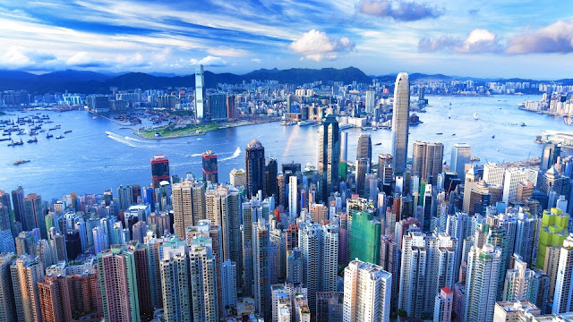 Hong Kong Skyline View HD Wallpaper