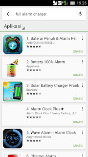 ALARM CHARGER PENUH BATERAI ANDROID