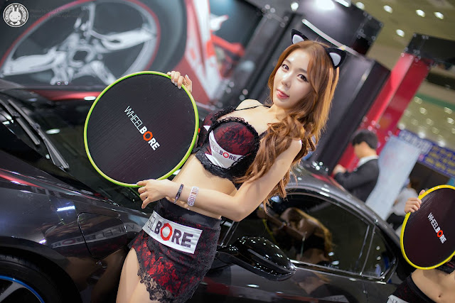 1 Uhm Ji Ah - Seoul Auto Salon - very cute asian girl-girlcute4u.blogspot.com