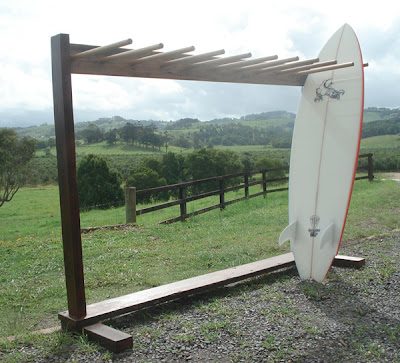 wood surfboard rack for 10 boards