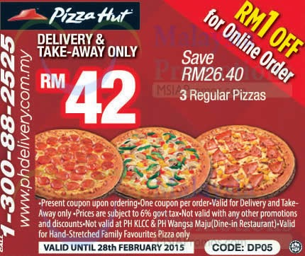 Free pizza hut vouchers 2018