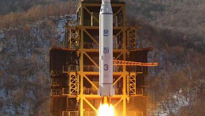North Korea's Unha-3 rocket lifts off from the Sohae launch pad in Tongchang-ri, North Korea.
