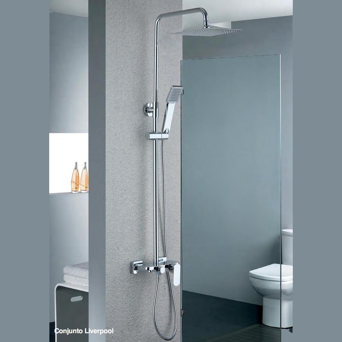 Barra de ducha liverpool tu cocina y ba o - Rociador ducha pared ...