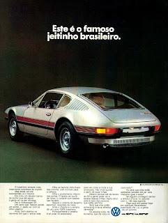 propaganda Volkswagen  SP 1 e SP 2 - 1972