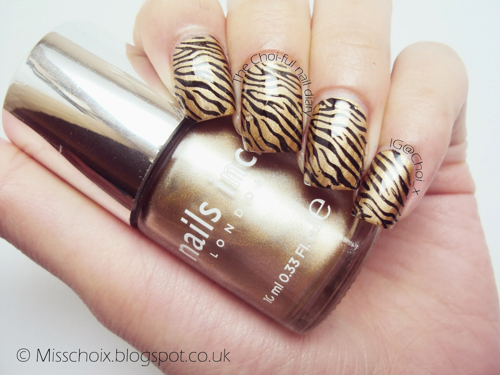 Nails Inc\'s Lanesborough place & my first zebra print stamping ...