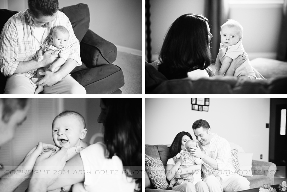 Terre Haute photographer - lifestyle images of a baby and his parents