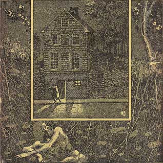 The Shunned House, illustrazione di Virgil Finlay