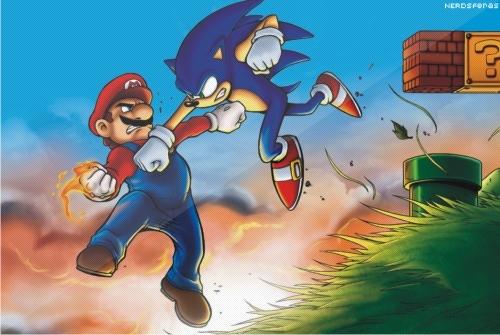 Façam suas apostas: Mario vs Sonic