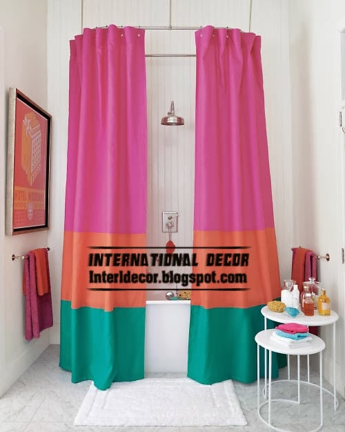 latest shower curtains for modern bathroom 2014