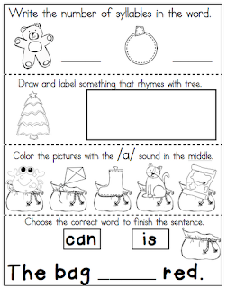 Also To Celebrate The Last Monday Before Thanksgiving Heres A Few Christmas Themed Freebies For You First One Is Sequencing Activity