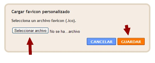 Blogger. Cargar favicon