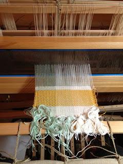 weaving on Harris Folding Loom