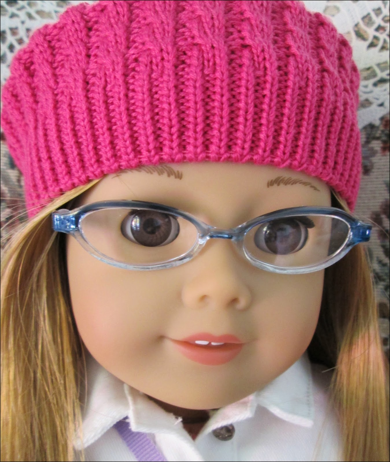 do you see that cute raspberry beret american girl 35 is wearing i