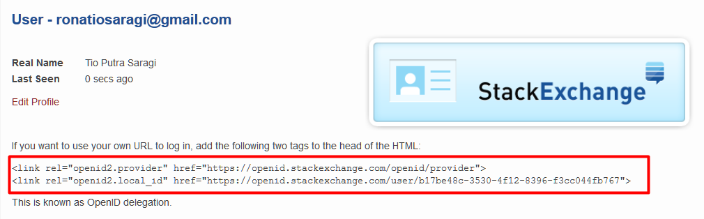 Kode HTML Open ID