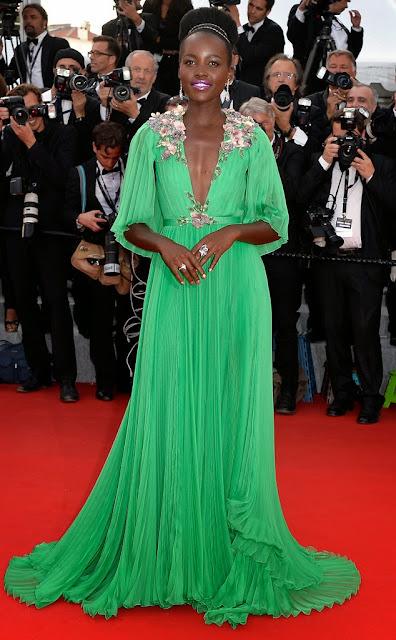 68º Festival Filme de Cannes Lupita Nyong'o com um vestido da Gucci