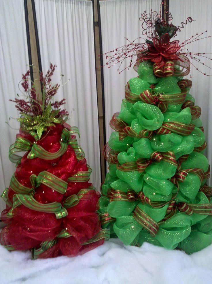 C mo decorar un rbol con mallas navide as - Decoracion de arboles navidenos ...