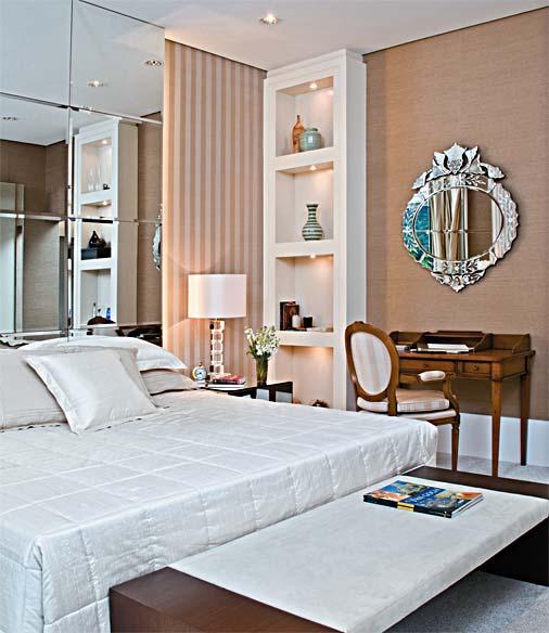 decoracao de interiores pequenos quartosQuartos de casal