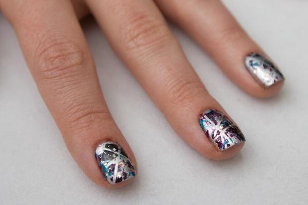 mod style lounge nail art