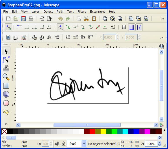 My Technical Blog: How to vectorize your signature with Inkscape