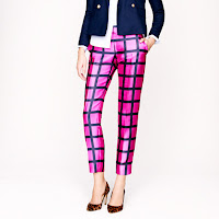 J. Crew Collection Cafe Capri in Windowpane