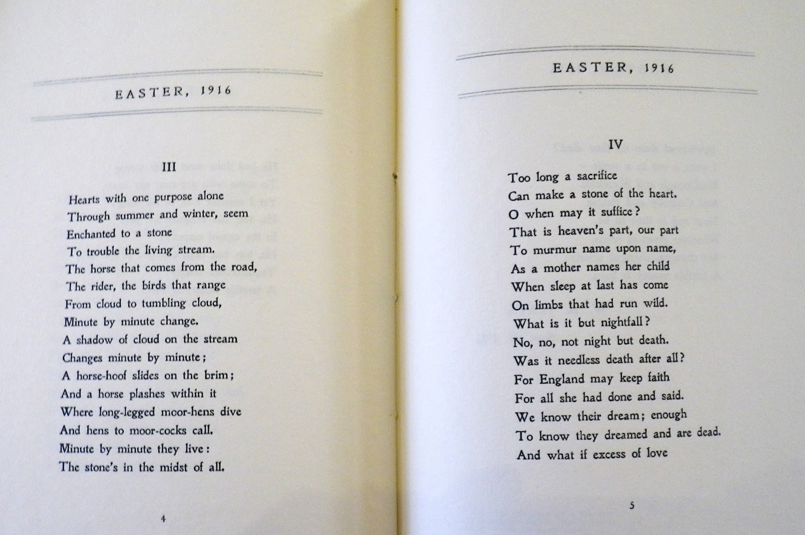 "an analysis of yeats easter 1916 Easter 1916"" is one of the most famous political poems of the 20th century and  one of the most ambivalent wb yeats did not support the irish."