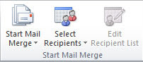 group start mail merge