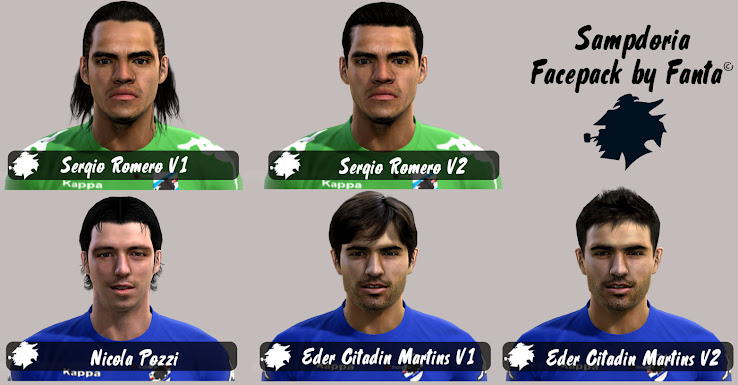 PES 2012 Sampdoria Facepack by Fanta