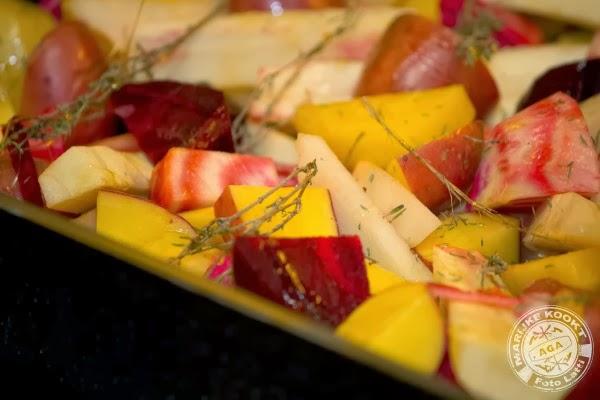 Perfect gebakken eendenborst met vergeten groenten