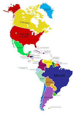 mapa de centro y sur america - Akba.greenw.co