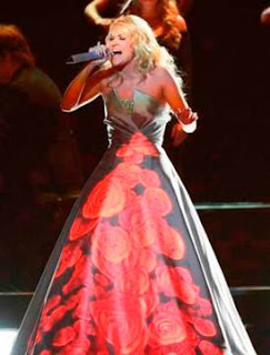 carrie underwood, fabrics, dress, Don o'Neill