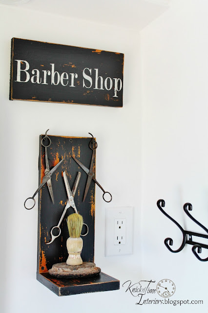 See how we turned an old laundry room into a unique vintage style bathroom! - KnickofTime.net