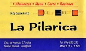 RESTAURANTE LA PILARICA    ILLUECA (ZARAGOZA)