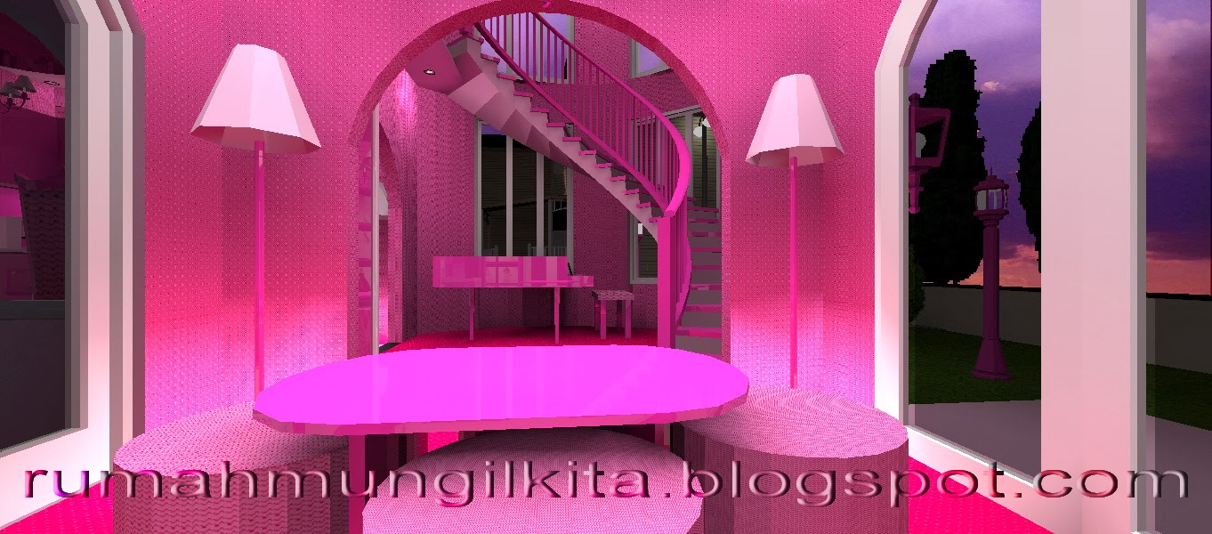 pink living room, real barbie dream house castle